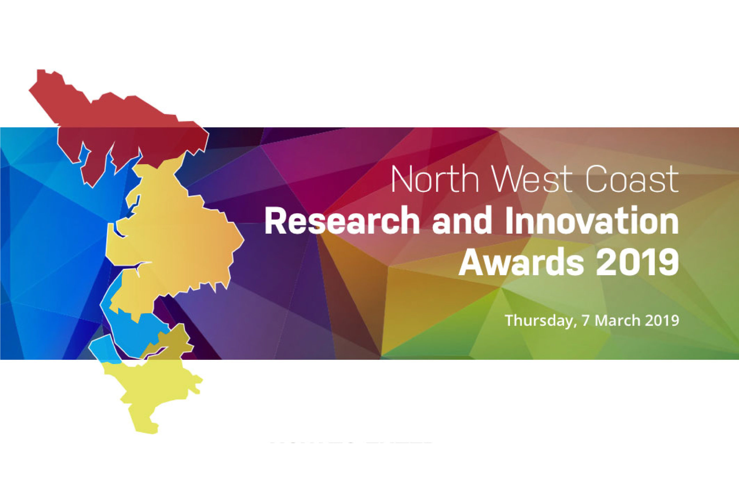 Logo for the North West Coast Research and Innovation Awards which BBI were nominated for in 2019
