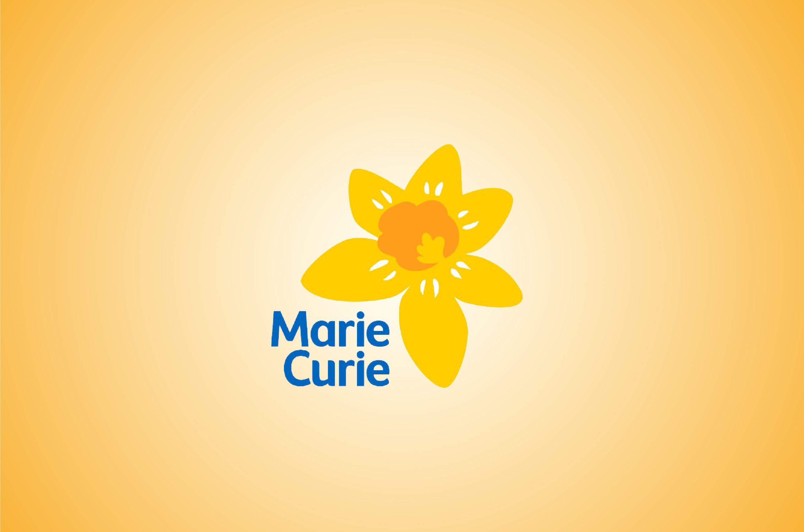 Logo for Marie Curie Hospital, Newcastle, featuring a yellow daffodil