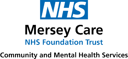 Logo for NHS Mersey Care NHS Foundation Trust Community and Mental Health Services