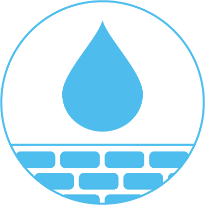icon showing water dripping onto skin