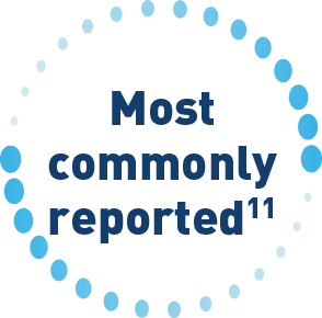 Most commonly reported